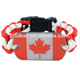 canada flag dog tag cobra weave paracord survival bracelet