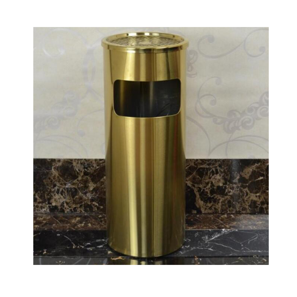 201/304 Stainless Steel Hotel Trash Can