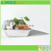 Disposable Rectangular Aluminum Foil Container With Lids