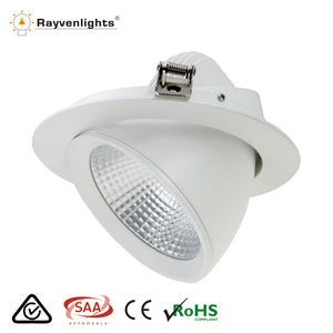 New design CCT adjustable cob led downlight 90 degree 20w led gimbal downlight