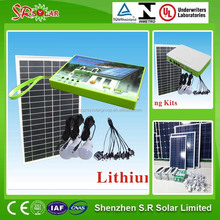 10w solar power system to generate electricity light for home
