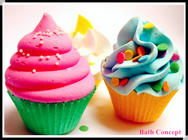 cute cupcake shape can with toy inside for kids bath bombs