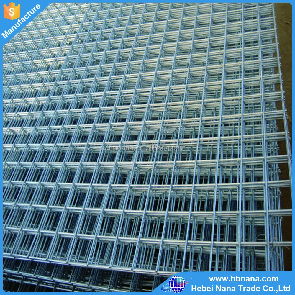 Hot selling cheap solid iron welded wire fence mesh / Multifunctional cheap solid iron galvanized welded wire mesh panel