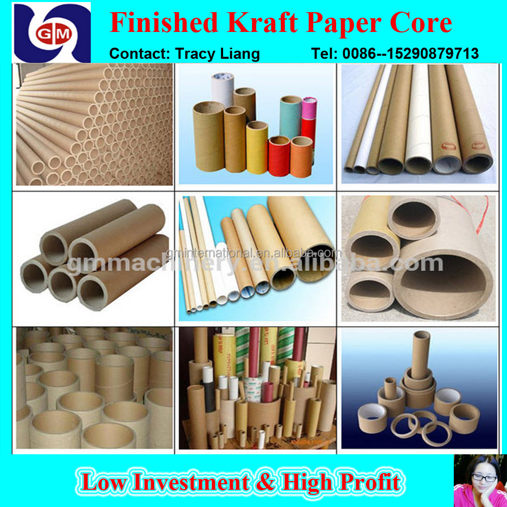 high speed full automatic kraft cardboard plant paper for core tube making machine