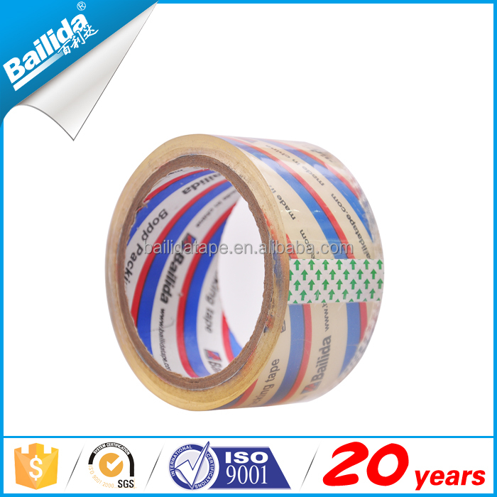 New design with custom logo printing strapping tape pvc adhesive packing tape with logo