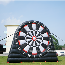 Outside big inflatable foot dart board game sports soccer play