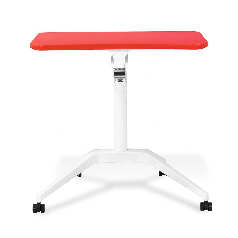 Movable height adjustable table with gas <strong>spring</strong> lift laptop base