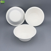 Bio safety sugarcane bagasse disposable small snack bowl