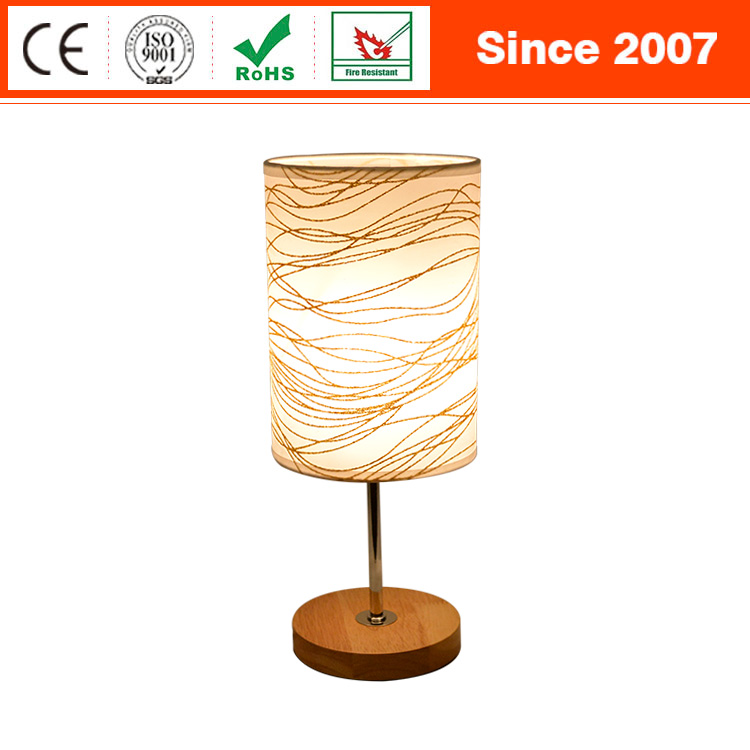 Simple designs sand nickel fiber optic modern led desk lamp