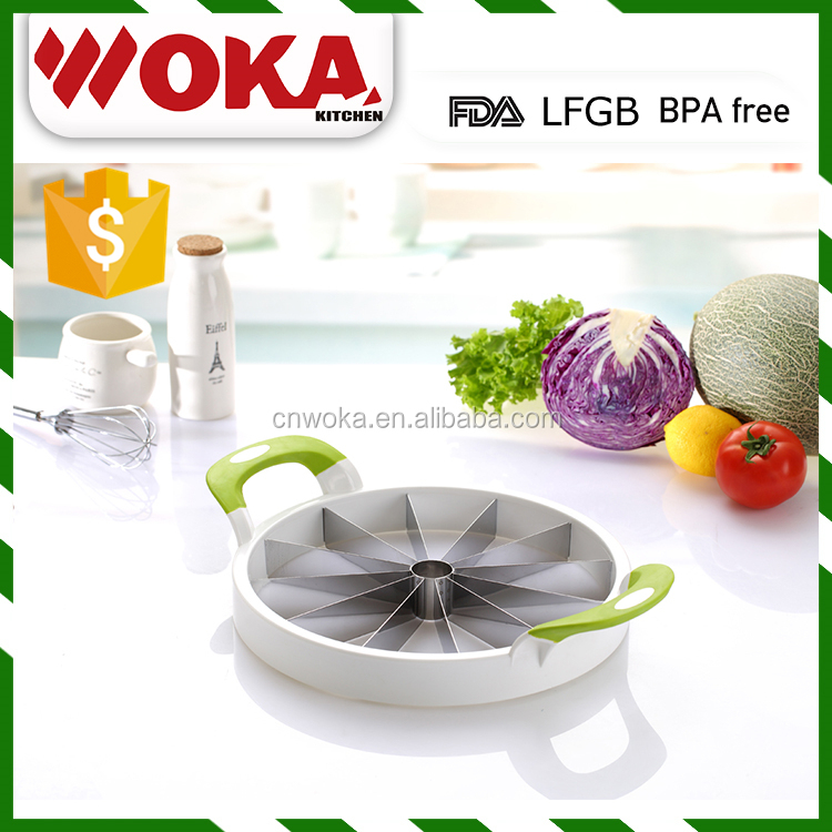 kitchen plastic watermelon cutter manual slicer stainless steel melon slicer