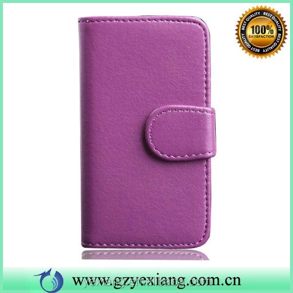 Purple PU Wallet Magnetic Leather Skin Case For Samsung Galaxy Note 3