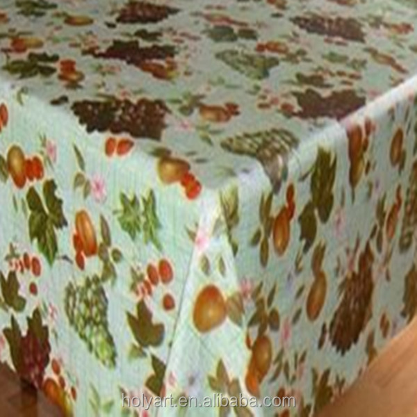 Hot sale high quality custom made printed tablecloth