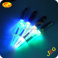 led glowing pen , led ballpen with light , promotional led flashing pen