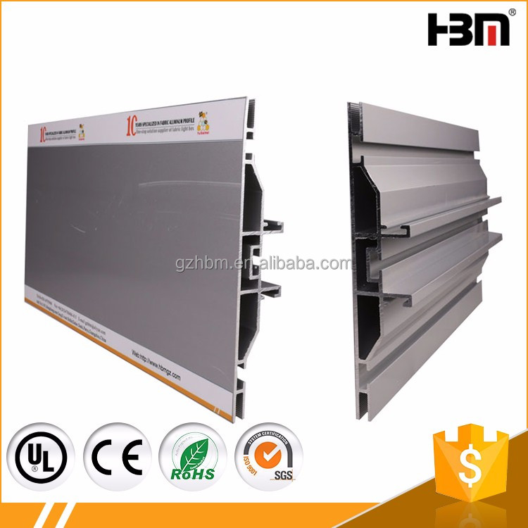 Wholesale frameless aluminum double extrusion for exhibition display