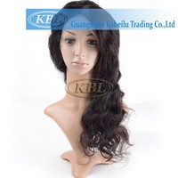 2016 kbl new virgin indian human hair lace front wig men