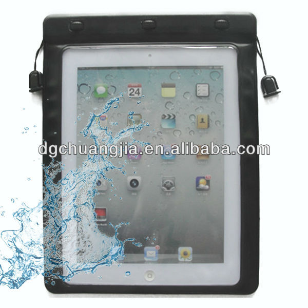 High quality pvc waterproof pouch for ipad air with earphone