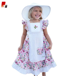 latest children frocks design baby girls boutique hand embroidery party wear apron dress