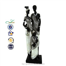 resin african family crafts african couple figure