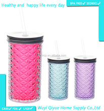 Eco-Friendly Hot Sale Plastic 16oz bpa free paint colors for inner wall infuse water bottle travel mug
