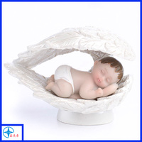 Custom polyresin baby angels figurines souvenirs for home decoration
