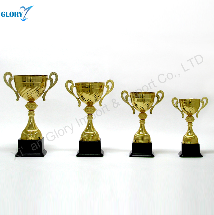 Cheap High-Quality Gold Plated Metal Trophy Cup For Sport Decoration