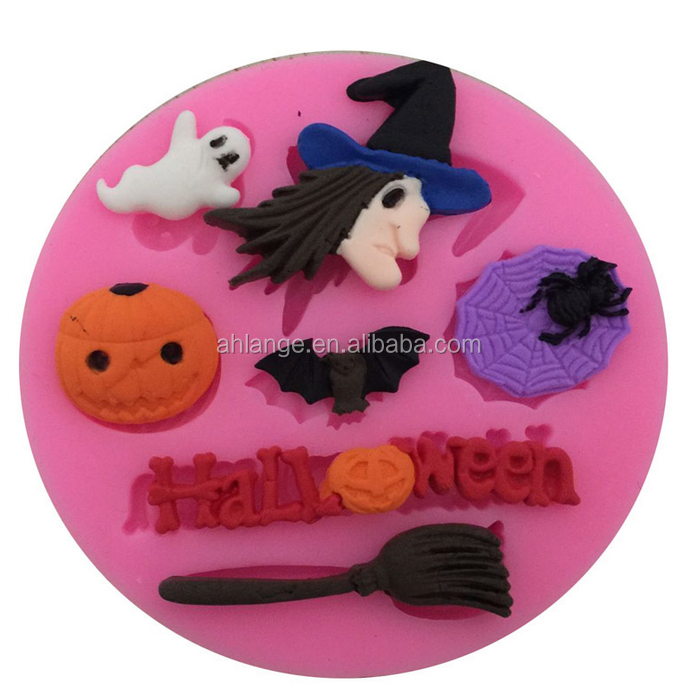 Halloween baking tools silicone pumpkin shaped cake mold