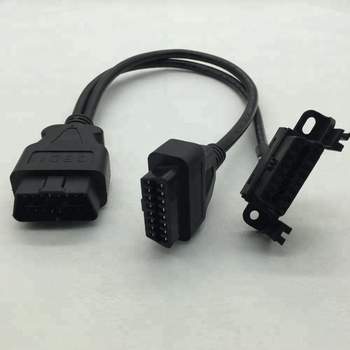 16 pin obdii/OBD2 male to female Y cable for bmw equipment