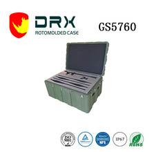 Ningbo EVEREST GS5760 gun carrying rotomolded case hard handle plastic tool waterproof military box