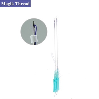 Sterile oem surgical korea needle screw mono cog thread pdo for nose lifting