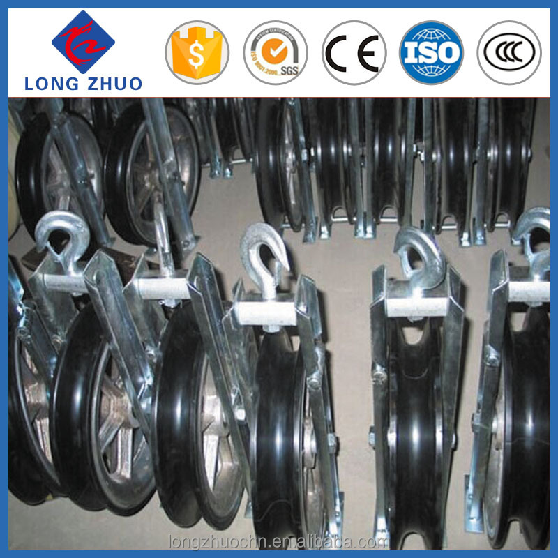 Power transmission tools, cable pulleys with singal blocks