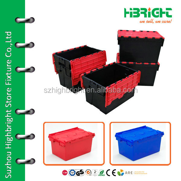 plastic folding warehouse storage containers
