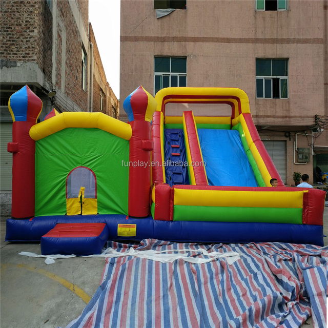 HI Hot giant PVC slide bounce house combo, rental air inflatable jumping bouncer house