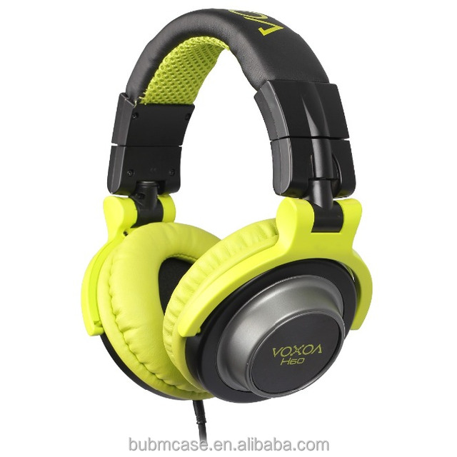 VOXOA H60 DJ monitoring headphone Professional Studio Monitor different colors Dynamic Stereo Headphones