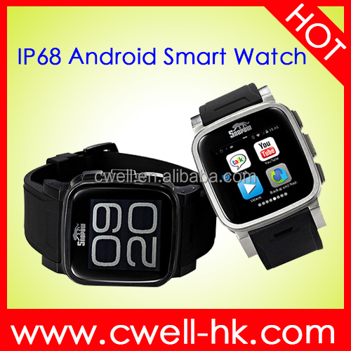 whatsapp watch phon Snopow W1S IP68 Waterproof Android Smart Watch Phone with Metal Body