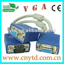 High quality rs232 vga cable with two ferrites