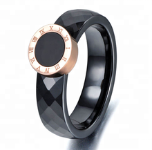 Fashion Couple rings For Women/Mens Black Ceramic Ring CZ Wedding Jewelry Dropshipping
