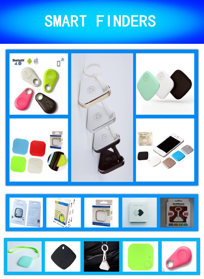 Popular Mini Round Shaped Bluetooth Wallet Anti Lost Alarm,wireless smart Key Finder and Tracker