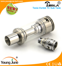 Youngjune hottest Tesla Vortek 12ML sub tank the drip tip protect oil from spilling out Tesal Tornado tank
