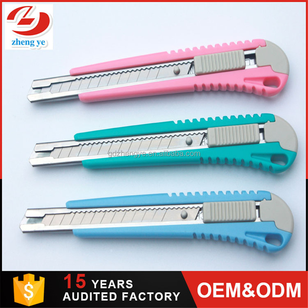 Mini 9mm folding multi function tools folding utility knife safety cutter
