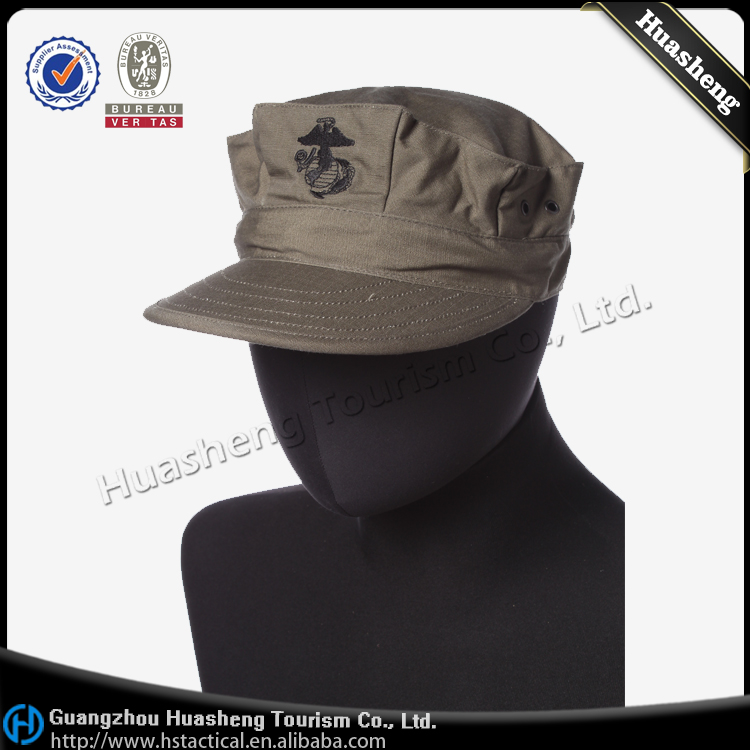 Military Army Training OD Catton Octagonal Hat Cap