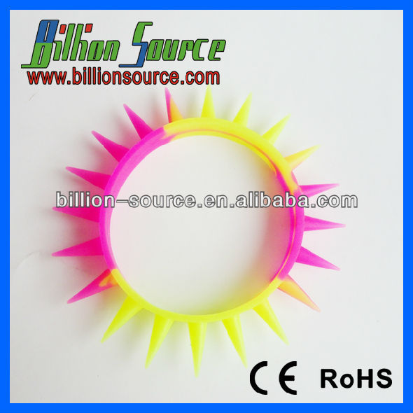 lovely 3d sun shape silicone bracelet new york