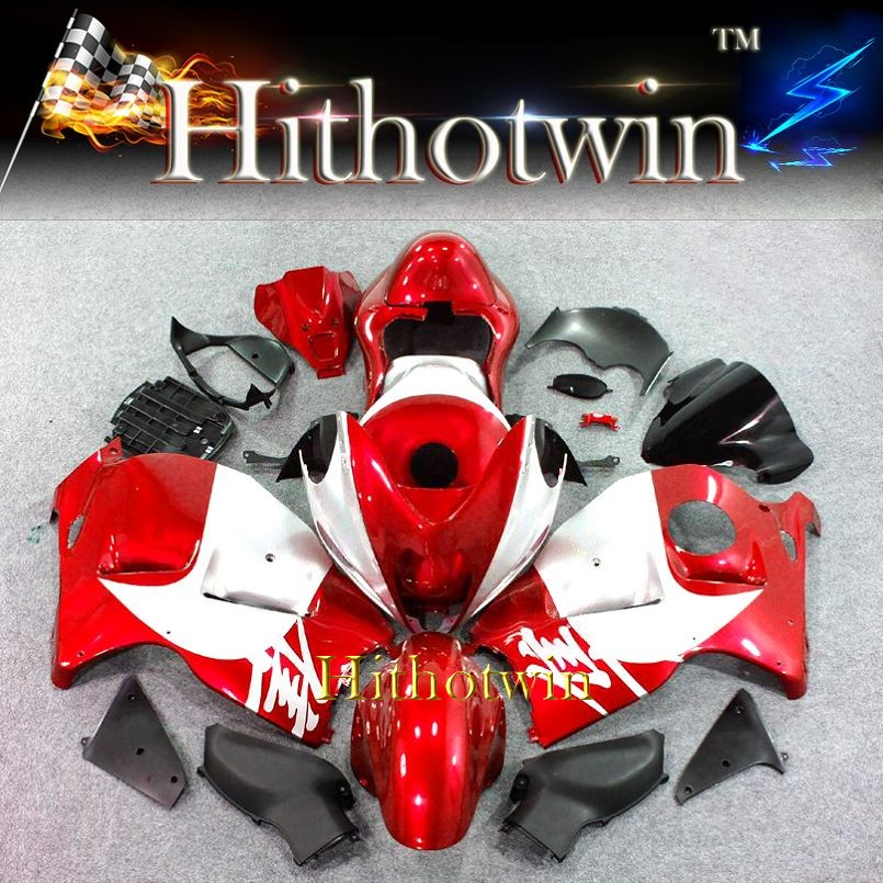 1997 1998 1999 2000 2001 2002 2003 2004 2005 2006 2007 GSXR1300 red silver Fairing For Suzuki Hayabusa with Tank Seat Cover Kit