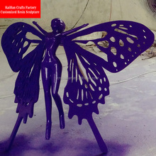Modern design FRP butterfly sculpture for outdoor