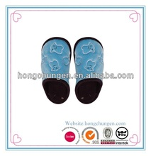 blue emboss bear long file astra women's winter mule slipper