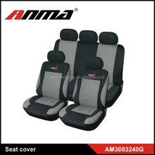 racing full set black PVC embroidery car chair/seat covers