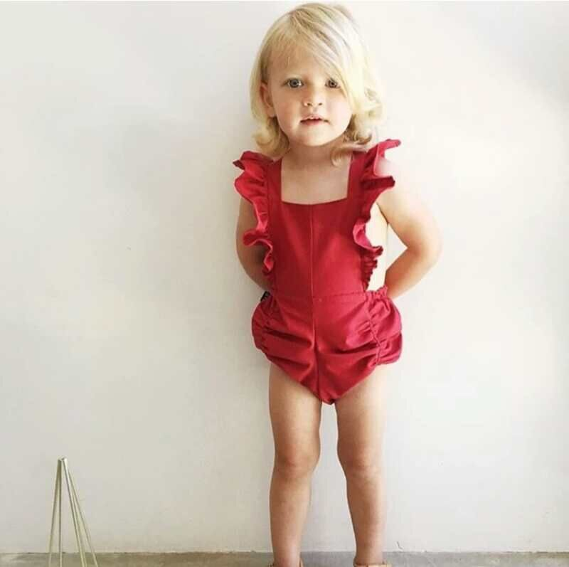 The new summer baby jumpsuit crawls The baby's jumpsuit with no sleeveless briefs