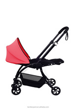 Consise baby pram supplied with wooden board inside the sleeping bag for baby to sleep comfortable and have good sleep