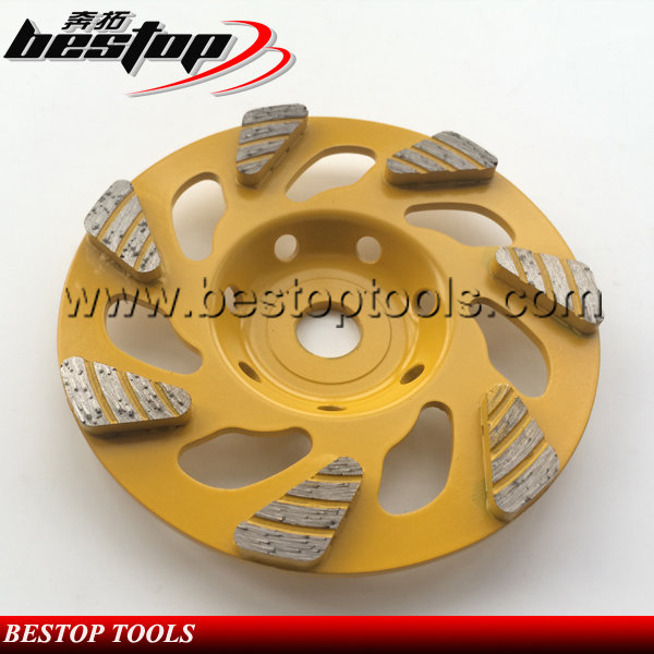 New Style 5 Inch Diamond Cup Grinding Wheel for Concrete Floor Diamond tools