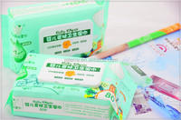 2014 popular best quality wholesale baby wet wipes rich in tea tree oil essence with lid cover