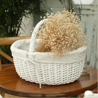 wicker tote basket